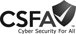 CSFA cybersecurity for all logo