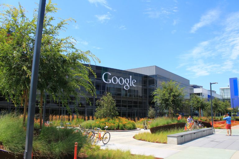 Google HQ on sunny day