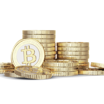 Cryptocurrency coin stack